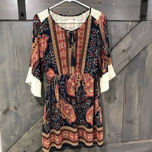 Flying Tomato Boho Mini Dress Small